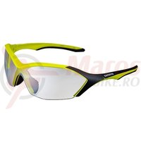 Ochelari Shimano S71R-PH Mat Lime Yellow/Black Lentile Photochromic Grey + Lentile Hydrophobic Yellow