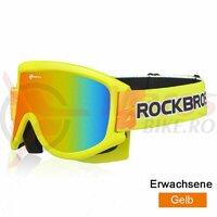 Ochelari ski ROCKBROS anti-aburire, galben