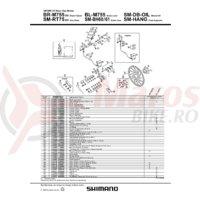 Pad axle Shimano BR-M755 + snap rling