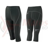 Pantaloni 3/4 Force Lady Fitness fara bazon negri