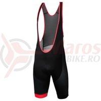 Pantaloni cu bretele Kross Pave Bib Shorts Black/Red