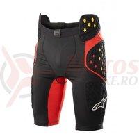 Pantaloni cu protectie Alpinestars Bionic Pro negru/rosu