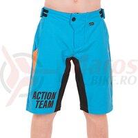Pantaloni Cube Junior Baggy Short X ActionTeam albastru/orange