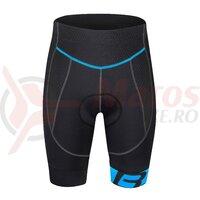 Pantaloni Force B30 cu Bazon din Gel Negru/Albastru