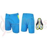 Pantaloni Force Blade MTB cu sub-pantaloni cu bazon albastri