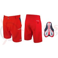 Pantaloni Force Blade MTB cu sub-pantaloni cu bazon rosii