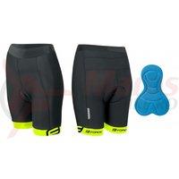 Pantaloni Force Kid cu bazon 140-153 cm negru/fluo