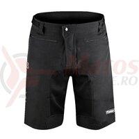 Pantaloni Force MTB-11 cu sub-pantaloni cu bazon Negri