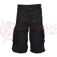 Pantaloni scurti ciclism CROSSER CW-598 cu bazon negru