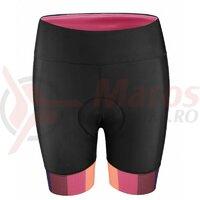 Pantaloni scurti cu bazon Force F Victory, negru/roz