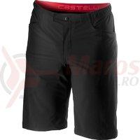 Pantaloni scurti cu bretele Castelli Unlimited Baggy negru
