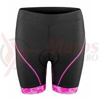 Pantaloni scurti Force Rose Lady pana la talie cu bazon, negru/roz