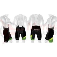 Pantaloni scurti Merida bib 1015 Black/Green (CX Design)