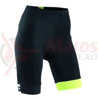 Pantaloni scurti Northwave Logo3 WMN negru/galben fluo
