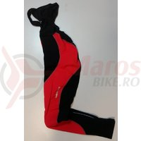 Pantaloni Shimano performance premium WFG cu bretele fara bazon negru/rosu