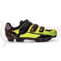 Pantofi ciclism BRN Cross FL MTB negru/verde fluo