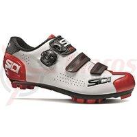 Pantofi ciclism MTB Sidi Trace 2 alb/negru/rosu