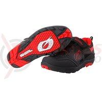Pantofi ciclism O`Neal Traverse Flat negru/rosu