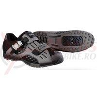Pantofi ciclism Shimano Indoor SH-FN50 Gun Metallic/Black