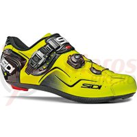Pantofi ciclism Sidi KAOS Carbon Vernice galben fluorescent/negru