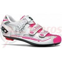 Pantofi ciclism sosea dama Sidi Genius 7 alb/roz