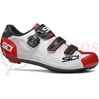 Pantofi ciclism sosea Sidi Alba 2 Alb/Negru/Rosu