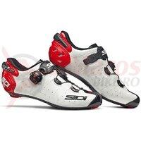 Pantofi ciclism sosea Sidi Wire 2 carbon alb/rosu