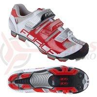 Pantofi Force Free MTB alb/rosu marime 45