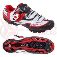Pantofi Force MTB Carbon Devil alb/rosu marime 45