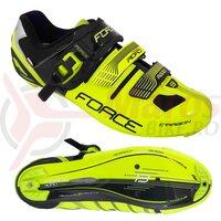 Pantofi Force Road Carbon verde fluo/negru