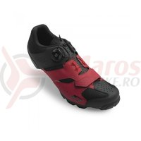 Pantofi Giro Cylinder dark red black