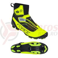 Pantofi iarna Force Ice MTB fluo