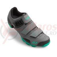 Pantofi MTB dama Giro Manta carbune/turquise