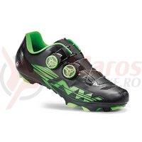 Pantofi MTB Northwave Blaze Plus negru/verde fluo