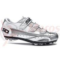 Pantofi MTB Sidi Peak argintiu/alb