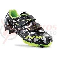 Pantofi Northwave MTB Hammer Junior camo/galben fluo