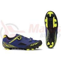 Pantofi Northwave MTB Origin Plus albastru/galben fluo