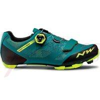 Pantofi Northwave MTB Razer verde/galben fluo