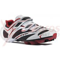 Pantofi Northwave MTB Scorpius 3s alb/negru/rosu