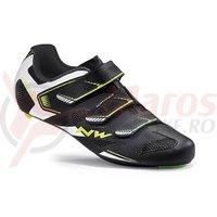 Pantofi Northwave Road Sonic 2 3S negru/alb/galben