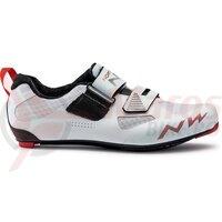 Pantofi Northwave Triat. Tribute 2 Carbon albi