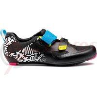 Pantofi Northwave Triat. Tribute 2 Carbon White/Black/Multicolor