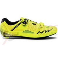 Pantofi Road Northwave Core Plus galben fluo