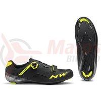 Pantofi Road Northwave Core Plus negru/galben fluo