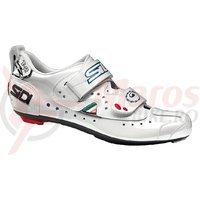 Pantofi Sidi T2 alb perlat