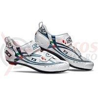 Pantofi sosea Sidi T3 Carbon Composite alb/albastru