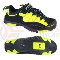 Pantofi Tourist Force negru/fluo