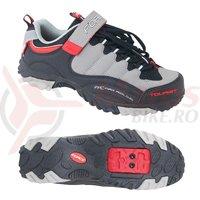 Pantofi Tourist Force negru/gri/rosu marime 47
