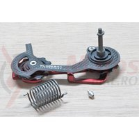 Patina schimbator Sram 10 X0 RD carbon medie red