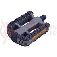 Pedal plastic/cauciuc City WellGo LU-884 ax 14mm cu prisma Kry